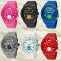 Relogio Masculino Мода часы мужчины кварцевые часы дамы женщины цифровые часы Двойной Дисплей Наручные часы часы лучший бренд роскошь