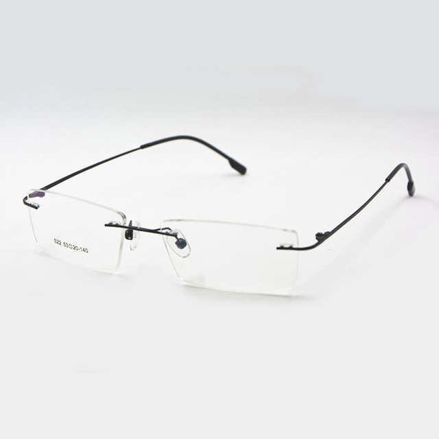 ee0ff6c5fb9 Titanium Memory Flexible Rimless Frame Eyeglasses Optical Prescription  Glasses Spectacle for Women and Men Frame Shape