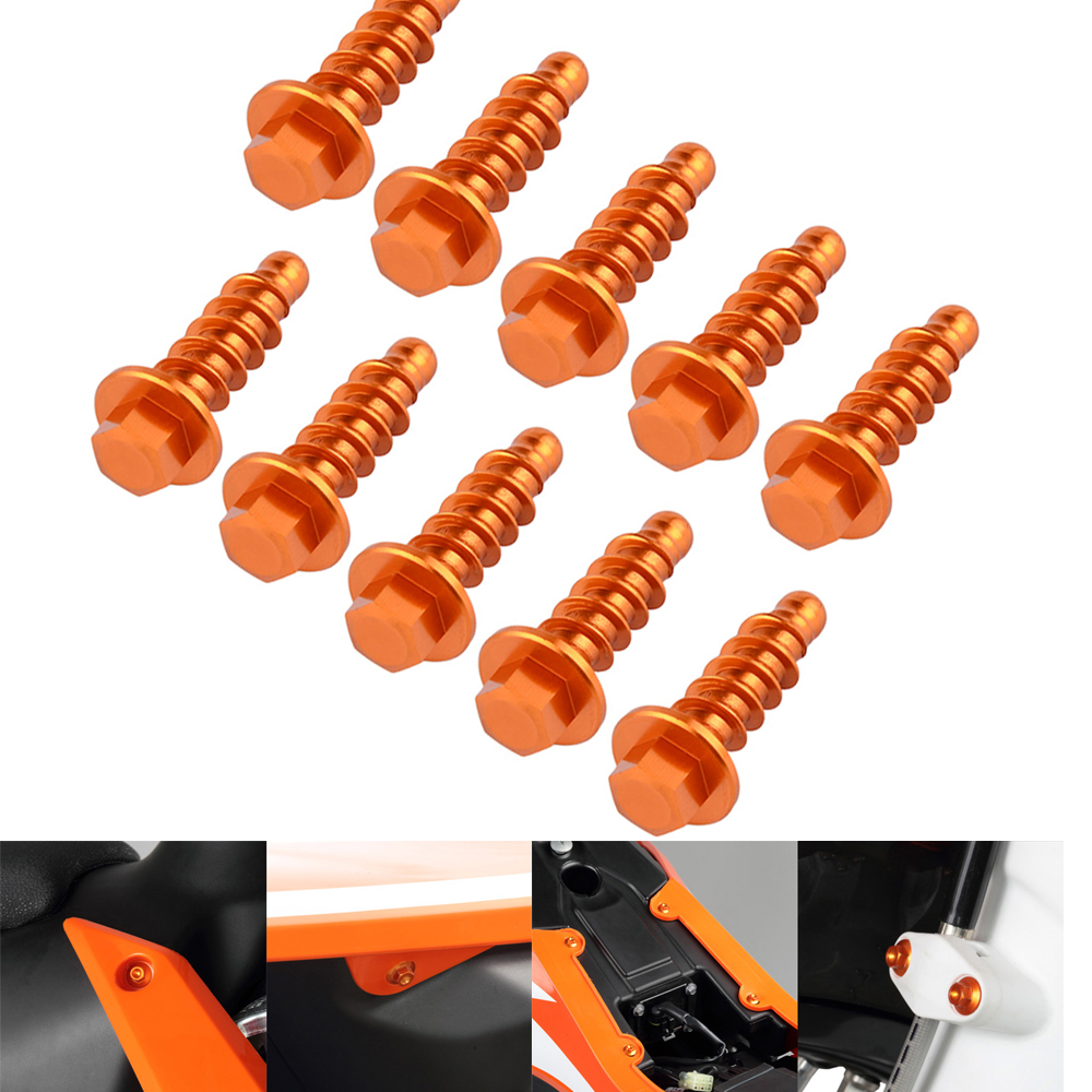 NICECNC Tapping Screw Motorcycle Cover Guard Bolts For KTM SX SXF EXC EXCF XC XCF XCW XCFW 125 200 250 300 350 400 450 500 530