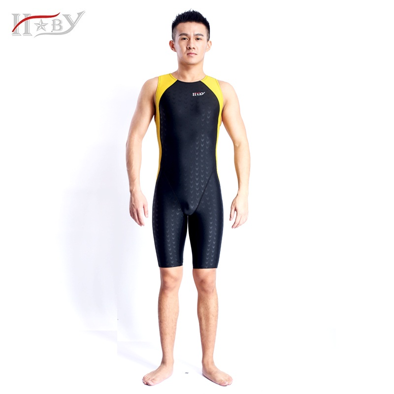 ФОТО Mens one piece swimwear competitive swimming racing swimsuits suit men competition swimsuit knee boys swim professional plussize