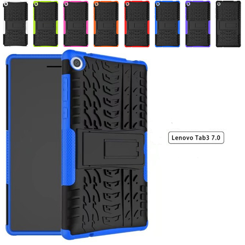 buy popular c322e c996a Shockproof Heavy Duty Impact Hybrid Armor Kick stand Hard case For Lenovo  Tab3 7 inch TB3 730X TB3 730F/M Child Cover-in Tablets & e-Books Case from  ...