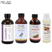 MELAO 100% Pure органические эфирные масла жожоба, шиповник, лаванда, миндальное масло для лица и массажное масло 118 мл