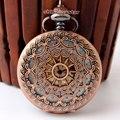 Новый уточнение брелок часы Античная тан Полые кулон часы ожерелье Мужская Женщины механические часы ретро карманные часы Подарок