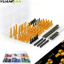 Universal CNC Motorcycle Fairing Body Work Bolts Spire Speed  Fastener Clips Screws Nuts for ER-6N NC700 S X GSX-R Bandit S-X