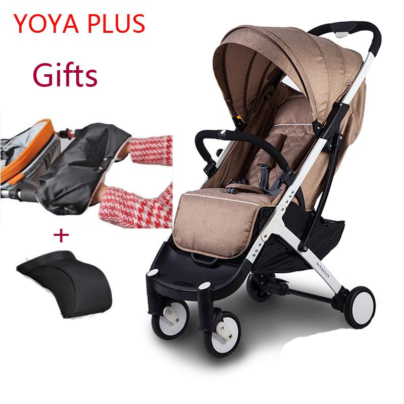 YOYAPLUS yoya baby stroller 2 in 1 light folding umbrella car can sit can lie ultra-light portable on the airplane light foldable baby stroller 3 in 1 cozy can sit and lie lathe umbrella car stroller carry bag 4 colour three wheels single seat