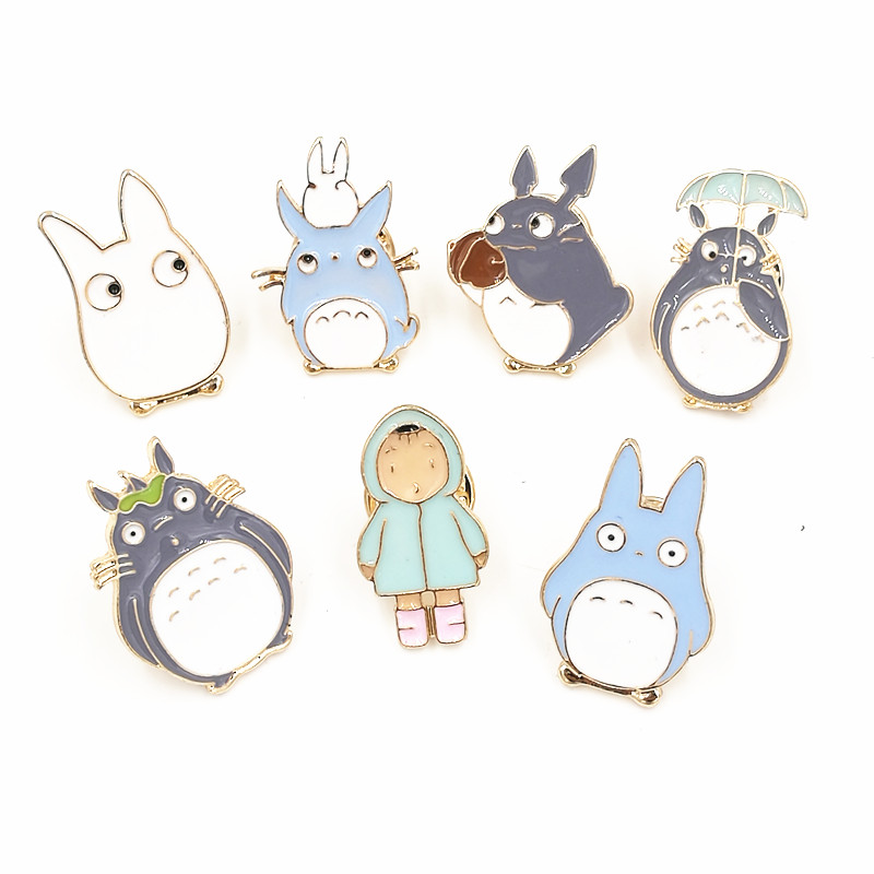 X181 Cartoon Cute Totoro Metal Brooch Pins Button Pins