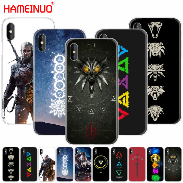 58d2e1d444a2 HAMEINUO The Witcher 3 Wild Hunt signs cell phone Cover case for iphone 6 4  4s 5 5s SE 5c 6 6s 7 plus case for iphone X 8