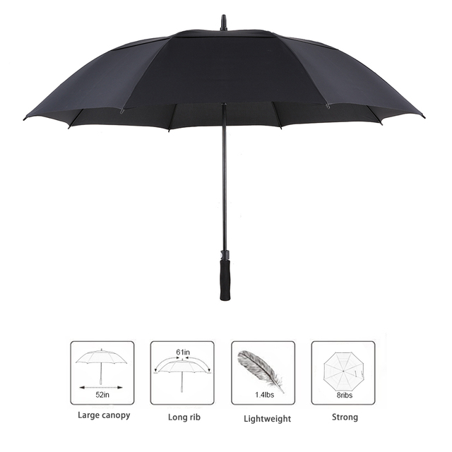 61 Inch Golf Umbrella Oversized Automatic Auto Open Outdoor Extra Large Double Canopy Ventilated Windproof Stick  sc 1 st  AliExpress.com & 61 Inch Golf Umbrella Oversized Automatic Auto Open Outdoor Extra ...