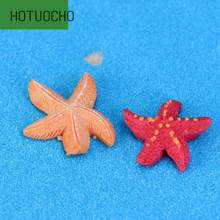 Small Starfish Five Angle Starfish Mediterranean Style Resin Placement Micro Landscape Decoration Creative Home Decor Miniatures(China)