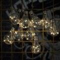 Солнечный Глобус струнные огни  водонепроницаемый 14 футов светодиодные гирлянды лампочки декоративное освещение для наружного/внутреннег...