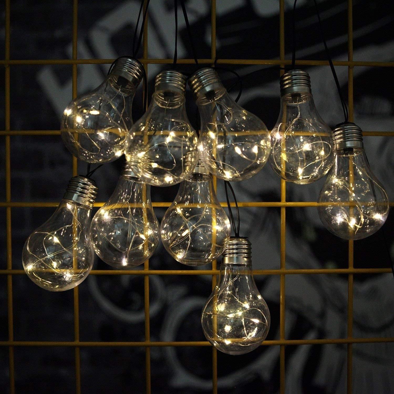 Solar Globe String Lights,Waterproof 14 FT LED Fairy String Lights Bulbs Decorative Lighting For Outdoor/Indoor Garden Home