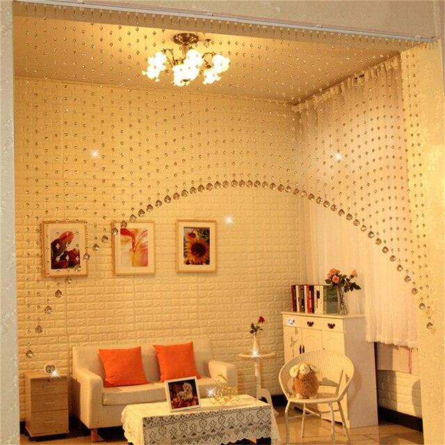 Arch Shape Decor A Set Of Acrylic Crystal Beads Curtain Window Home Decoration