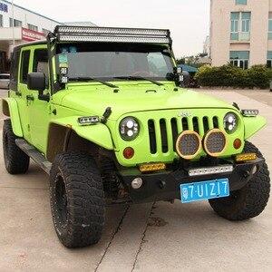 Image 4 - 8 pouces 40W mince barre de Led hors lumière de route pour voiture 12V 24V Wrangler jk ATV SUV camion moto faisceaux dinondation Barra 4x4 feux de route