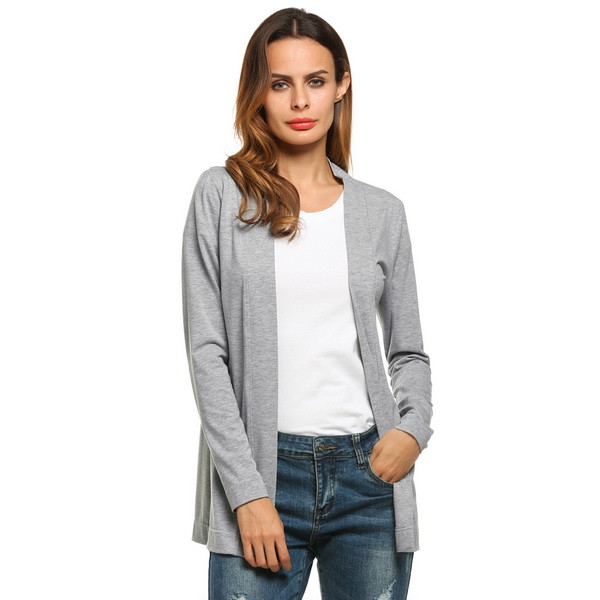 387a16fb9b93c Meaneor Brand Basic Cardigan Women V Neck Long Sleeve Casual Solid ...