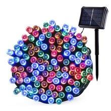 Ledertek 72ft 200 LED Outdoor Lighting Solar & Battery Powered String Lights Waterproof LED String Fairy Lights for Home Garden