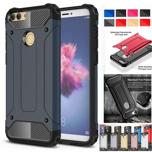 huge discount 82757 22e4c US $2.99 |MAYROUND For Huawei P Smart Case Hybrid Heavy Duty Shockproof  Armor Dual Layer Protection Tough Phone Cases Covers Coque-in Fitted Cases  ...