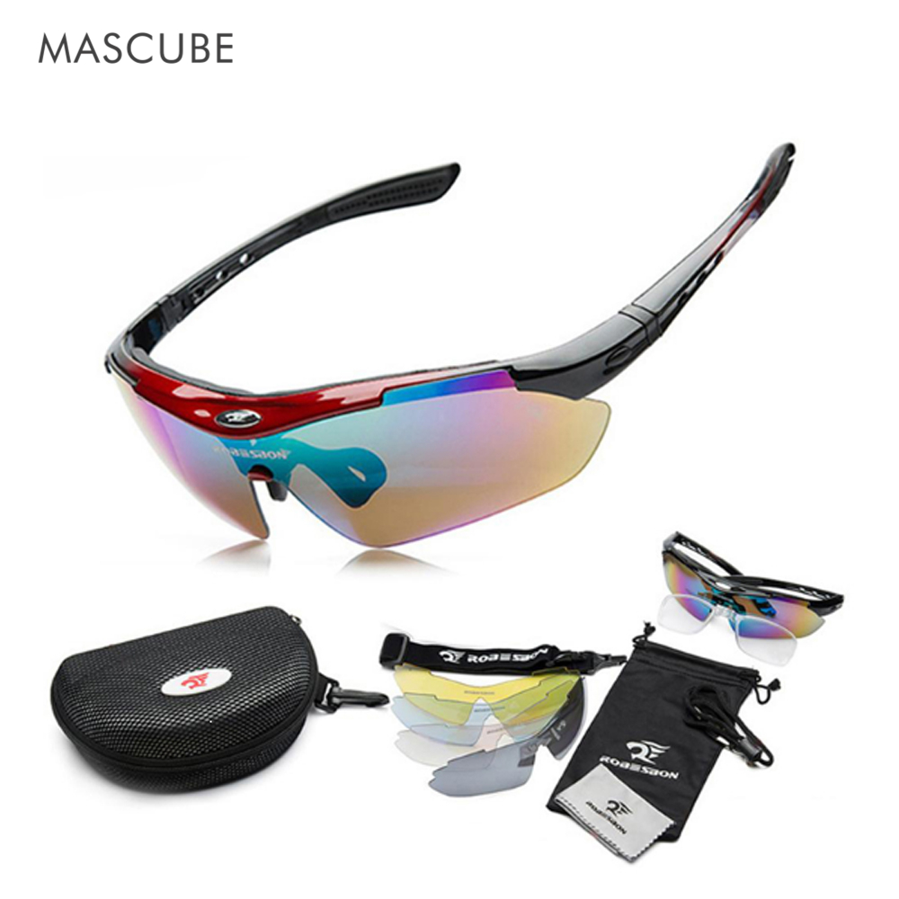 5 Lenses original Box 2015 New Men  Brand UV400 sun glasses Cycling Eyewear Sunglass Outdoor bicycle sunglasses