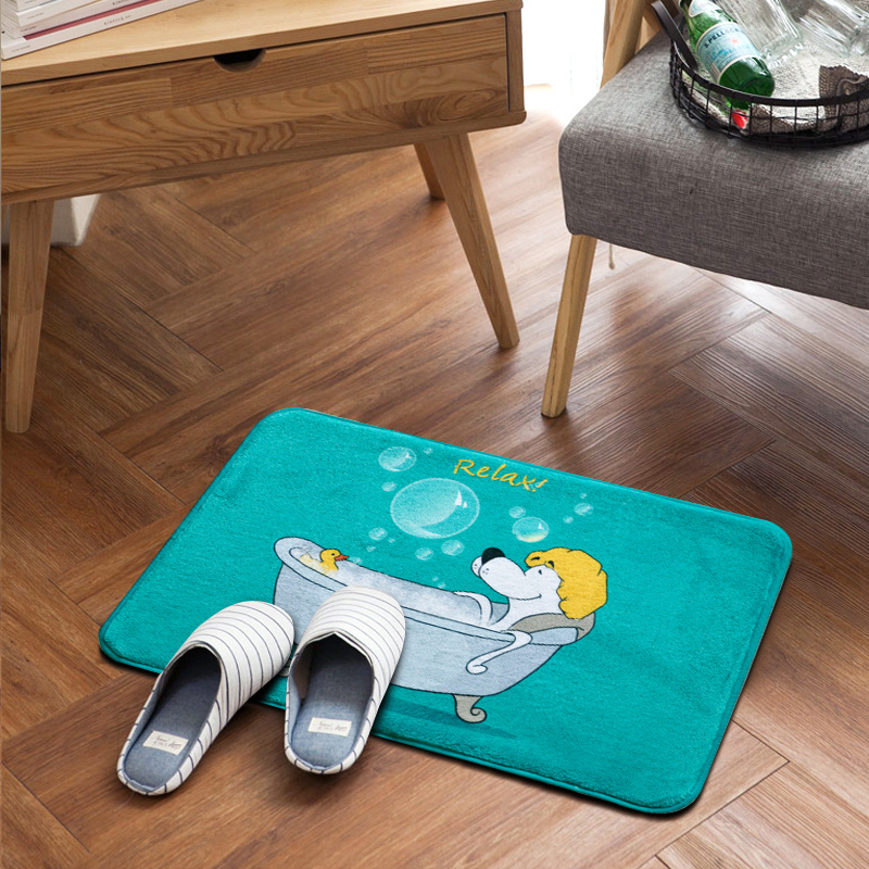 US $8.41 45% OFF|Carpets For Living Room Large Rug For Bedrooom Absorbed  Kitchen Floor Mat Anti Slip Bathroom Shower Carpet tapete para sala Tape-in  ...