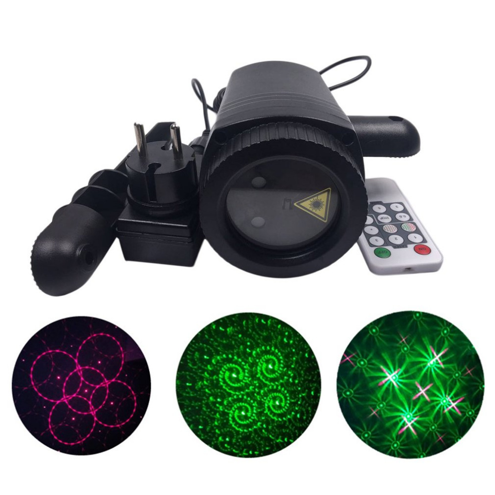Outdoor LED Lawn Lamp Dynamic Laser Light Waterproof Remote Control Spot Lights Change Pattern Card For Party Wedding Garden