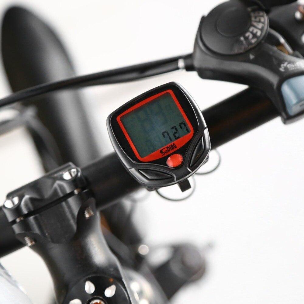 Cykelmåler Hastighedsmåler Bike Digital LCD Cykelcomputer LCD Odometer Speedometer Stopur til cykel SD-548B