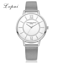 Lvpai Model Gold Luxurious Excessive High quality Informal Geneva Alloy Strap Ladies Trend Watches Bracelet Women Clock Quartz Watch