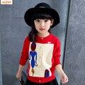 IAiRAY марка 6 лет девушки одежда весна вязаный кардиган дети одежда детей свитер мультфильм трикотаж девушки топы верхняя одежда
