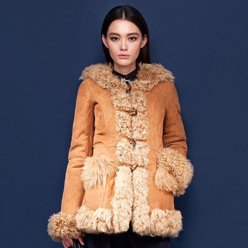 Aliexpress.com : Buy Luxury women genuine sheepskin wool fur coat ...
