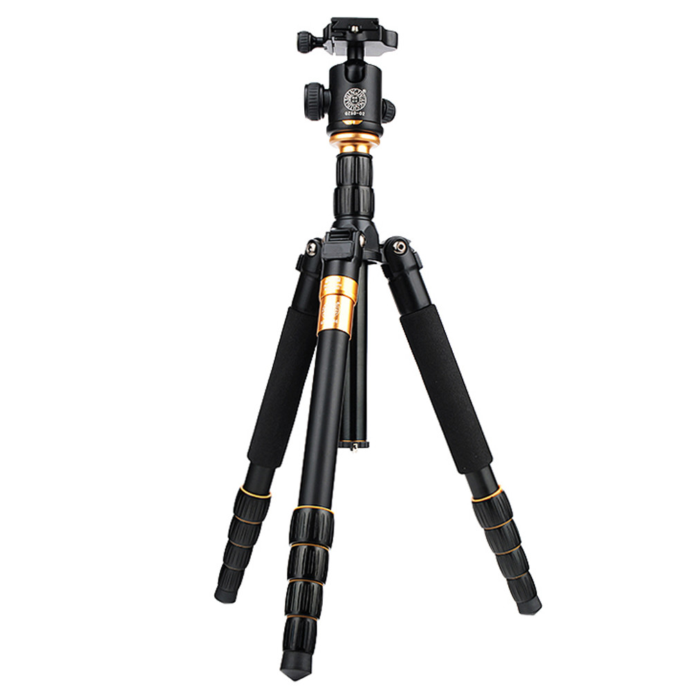 62.2 Inches Carbon Fiber Camera Video Tripod Monopod With Quick Release Plate Pro For DSLR Camera