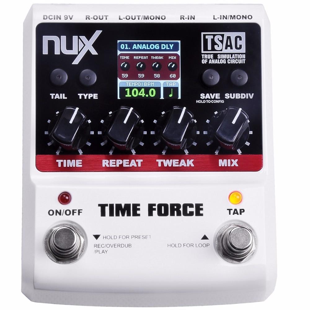 NUX TIME  FORCEล่าช้ากีตาร์ผลเหยียบหลายความล่าช้าดิจิตอล11ผลการหน่วงเวลา40วินาทีLooppingเวลาทรูบายพาสหางเก็บ| nux time force delay|nux time forcenux time - AliExpress