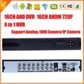 AHDM hogar Dvr AHD 720 P 16CH DVR 16 Canales 2 SATA Puerto HDD 3G Wifi AHD DVR 16CH NVR Híbrido Dvr ONVIF 16CH