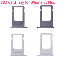 Wholesale 50PCS LOT Silver Gold Gray Rose Sim Card Tray Slot Holder For iPhone 6S Plus
