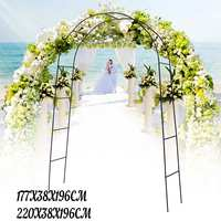Arch Upright Base Pole Stand Display Set Wedding Party Bridal Prom Garden Floral Decoration Party Supplies Black Metal