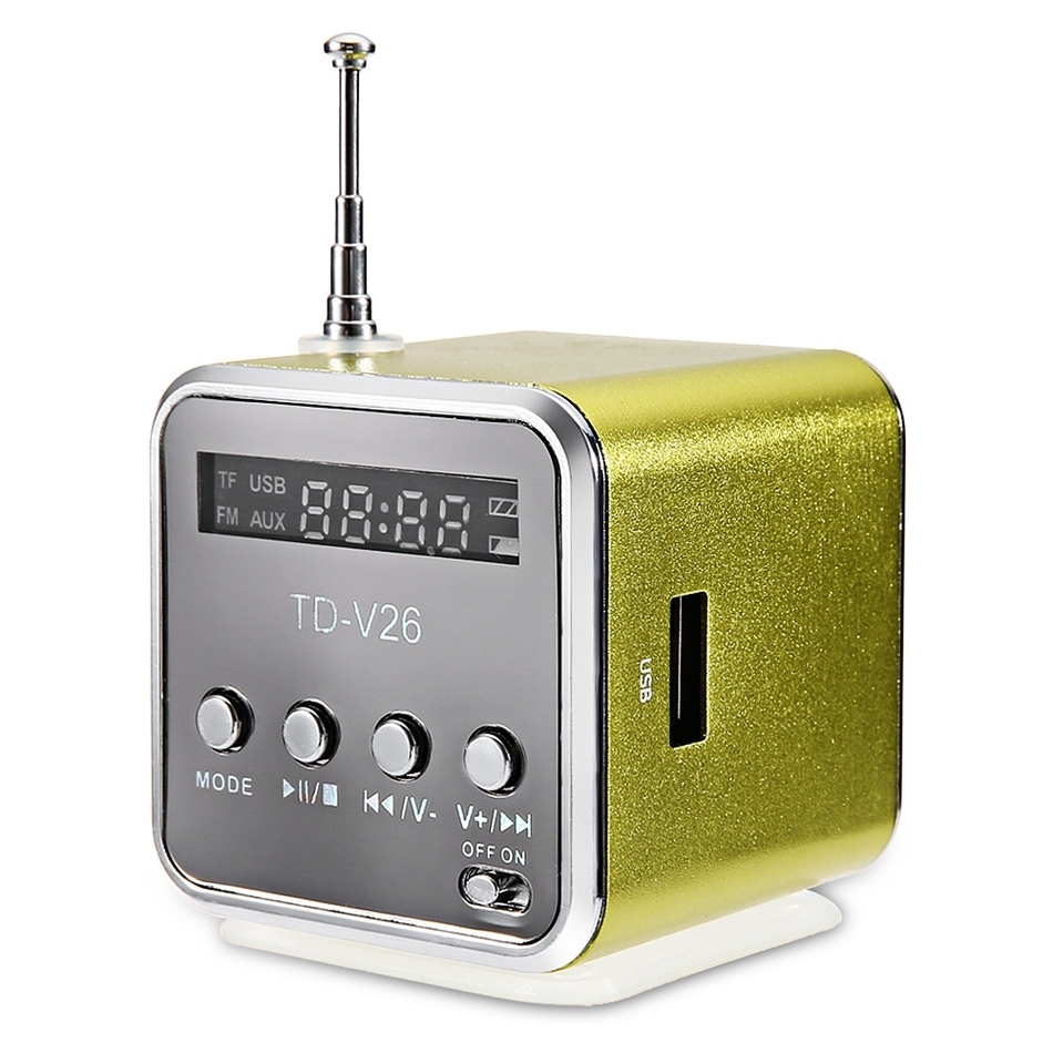 ssdfly TD-V26 radio FM mini zvučnik SD USB glazbeni reproduktor - Prijenosni audio i video - Foto 6