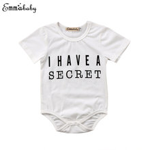d4e434b86a01 Cute Newborn Baby Girls Rompers Short Sleeve Romper White Letter Printed  Clothes Outfits Summer 1Pc Boys Playsuit