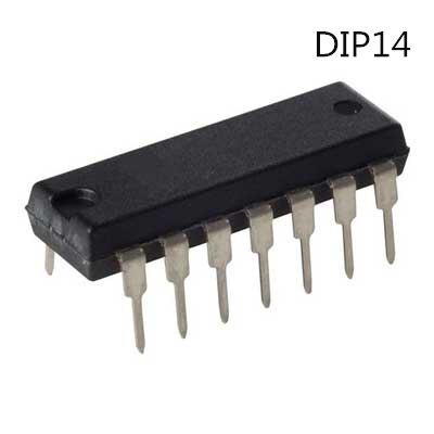 TI sn7408n DIP-14 QUADRUPLE 2-INPUT POSITIVE-AND GATES