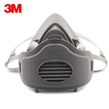 3M 3200 mascarillas + 5 piezas 3701CN filtro de algodón media cara antipolvo mascarilla antipolvo para la construcción industrial máscara de Gas de seguridad bruma