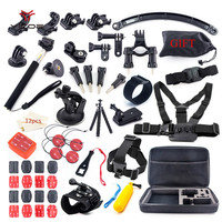Kit Case Tripod Strap Mount Monopod For Go Pro Hero Session 5 4 3 SJCAM SJ6