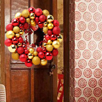 Christmas 55 Balls Wreath Door Wall Ornament Garland Decoration Nov15