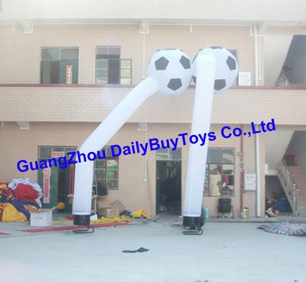 AD34 Sky Football / Soccer Inflatable air dancer&sky dancer 6M 20 ft wholesale price advertising inlatables