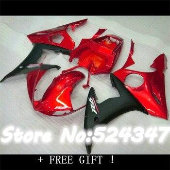 Injection plastic fairing kit for  YZF-R6 03 04 05 matte black red YZF R6 2003 2004 2005 custom fairings