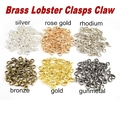 500pcs/lot 14x7mm Brass Lobster Clasps Claw Diy Jewelry Findings Making  Nickel Free,Free Shipping
