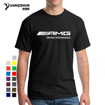 Fashion AMG T Shirt Boutique Men Short Sleeve Cotton T Shirts Mercedes Benz Amg Men Clothing Tops Cars Affalterbach C63 GT Tees