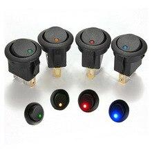 12 В Светодиодный точечный светильник для автомобиля, лодки, круглый переключатель включения/выключения SPST, 4 цвета, водонепроницаемый переключатель spst, поставляется со слотом kyhole