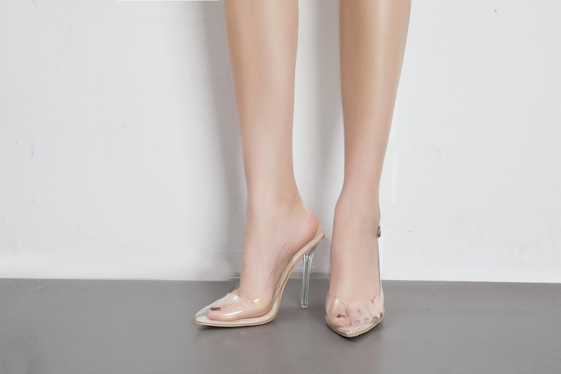 Dongcitaci Donna High Heels Patchwork Sandals Shoes Woman Pumps Fashion Patchwork Heels Transpar 7c57cd