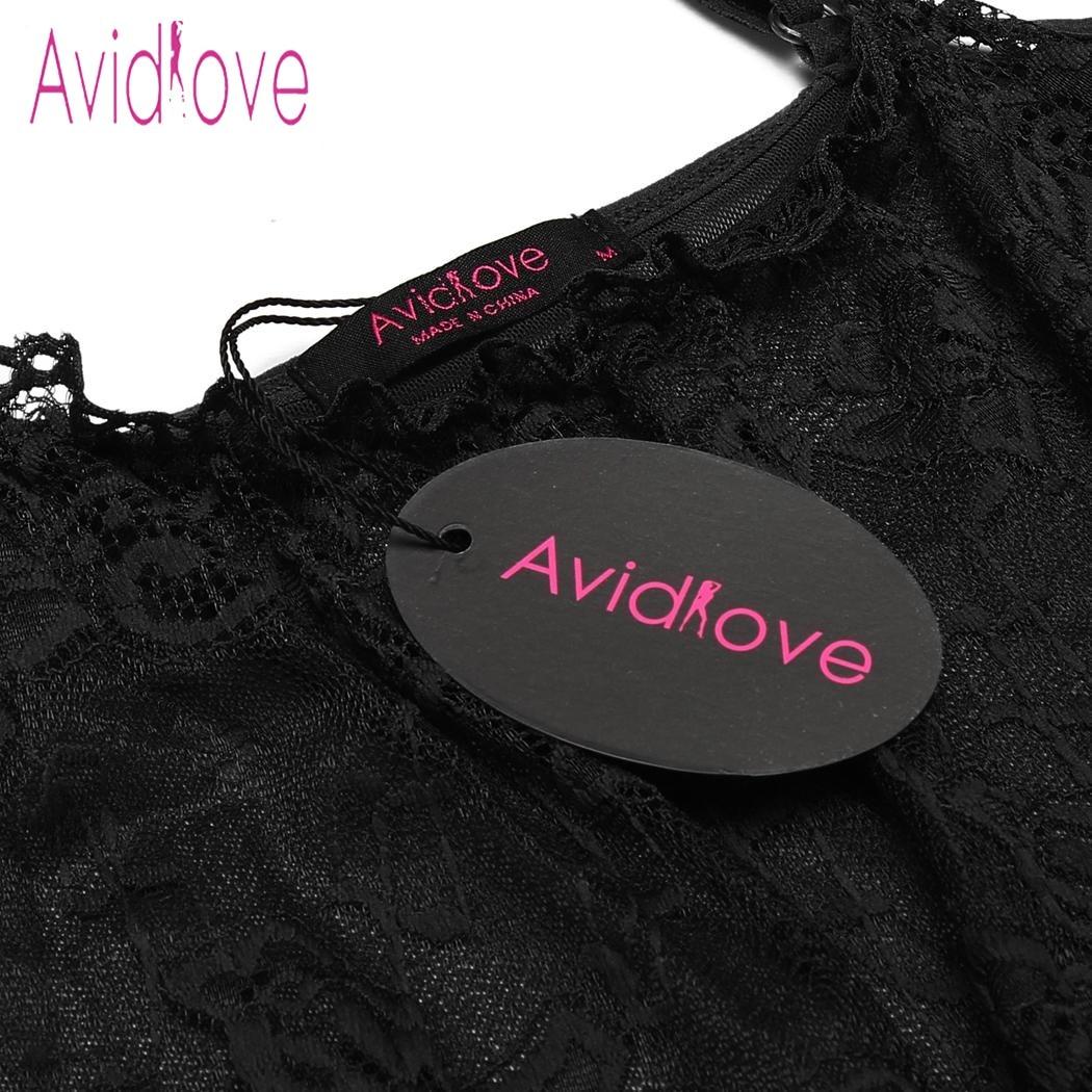 Avidlove Sex Underwear Lingerie Sexy Hot Erotic Babydoll Dress Women Sheer Mesh Lace Sleepwear Nightwear Porn Costume Nighty