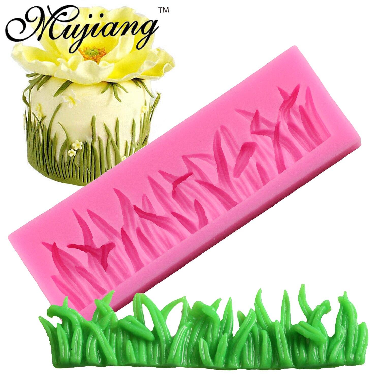 Mujiang формы для выпечки, кайма для торта, силиконовая трава, форма для помадки, формы для украшения тортов, кекс, шоколада, брикет