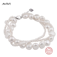 100 Real Natural Freshwater Pearl Bracelet Specific Beads Cultured Real Pearl Bracelet