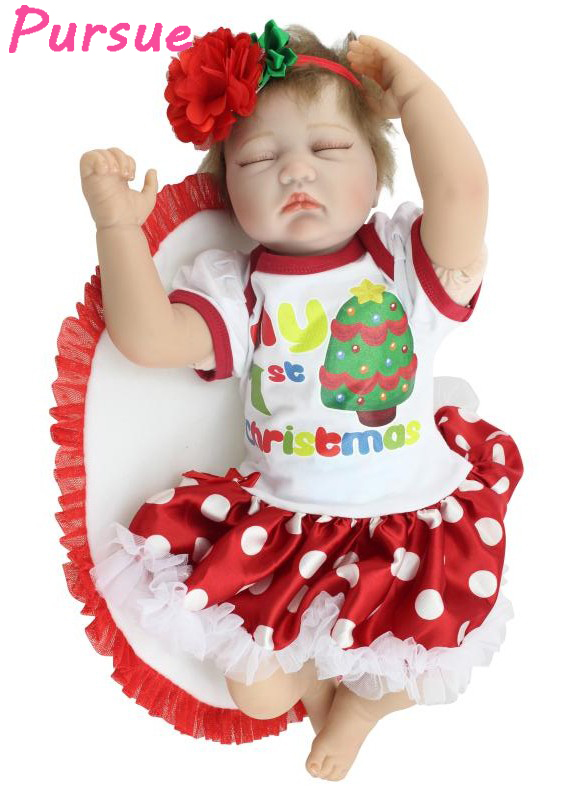Pursue Close Eyes Sleeping Doll Reborn Silicone Vinyl Dolls BJD Doll Bebe Reborn Realista Boneca Baby Alive American Girl Doll