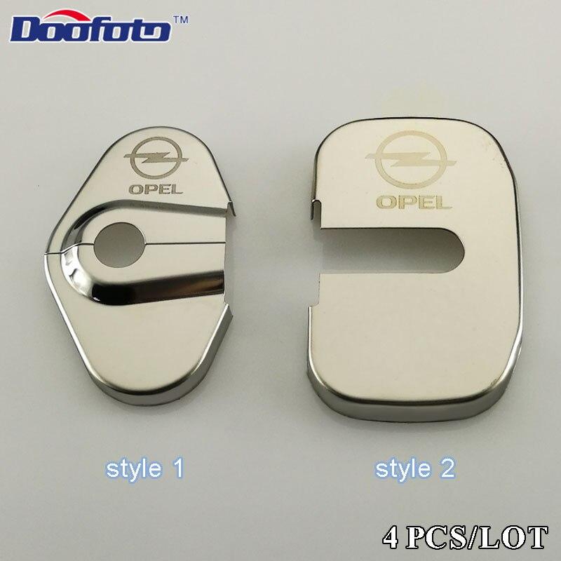 Doofoto Car Styling Fit For Opel Insignia Astra Antara Zafira Corsa Vectra Auto Door Lock Cover Car Accessories Car-Styling 4pcs