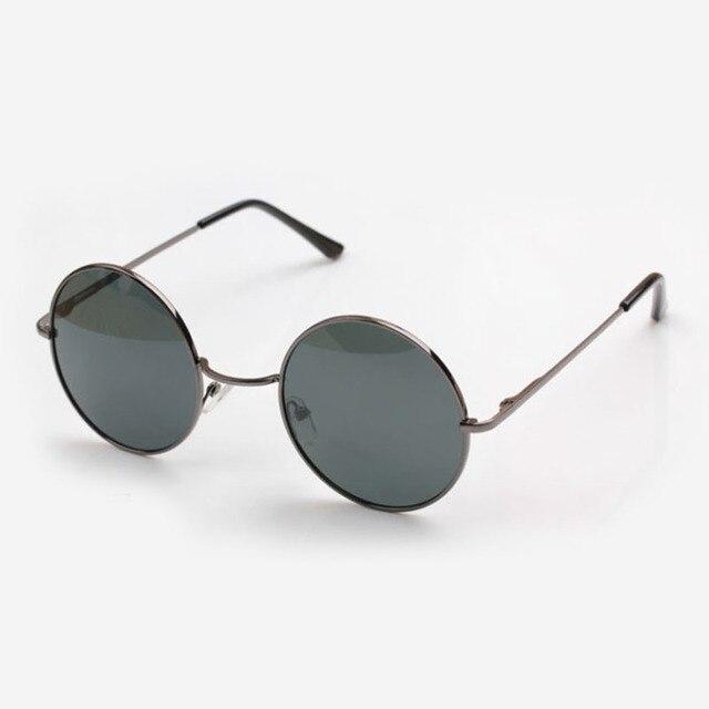 26b457755f6 Men Polarized Sunglasses Round Eyeglasses Frame Metal Women Retro Fashion  Trend TAC Lens Dancing Party Sun